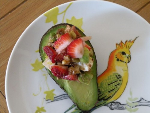 Post image for Strawberry Feta Salad with Avocado