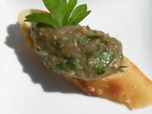 "Post image for Greek Roasted Eggplant Dip ""Melitzanosalata"""