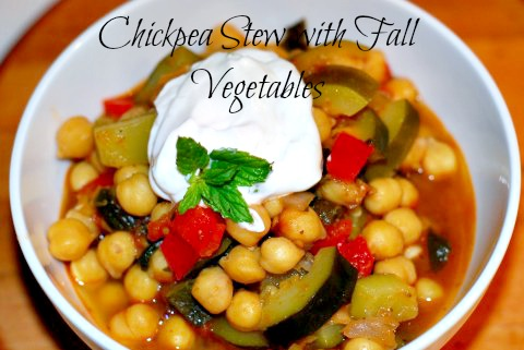"Post image for Chickpea Stew with Fall Vegetables – ""Revithada"""