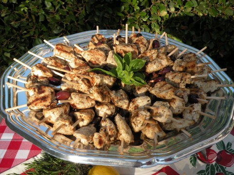 Marinated Greek Lemon Chicken Ka-Bobs - California Greek ...