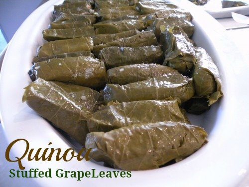 Quinoa Stufffed Grape Leaves Dolmathes California Greek Girl California Greek Girl