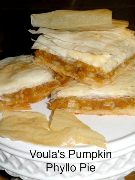 Post image for Cooking Technique for Voula's Pumpkin Phyllo Pie- Kolokothopita