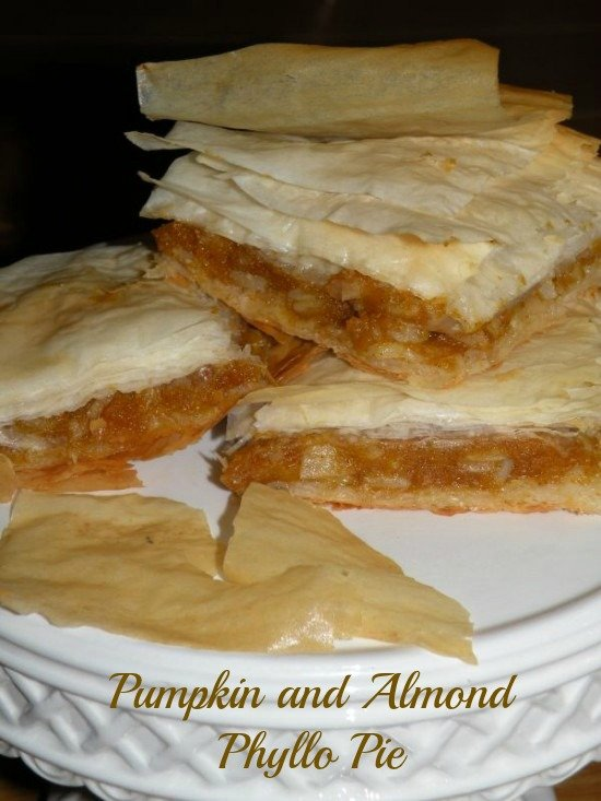 Post image for Pumpkin and Almond Phyllo Pie – Kolokithopita