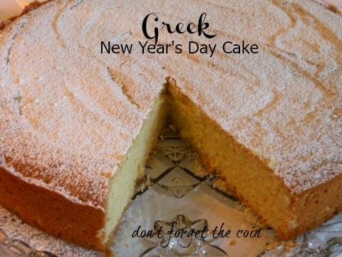 Post image for Greek New Year's Day Cake Thea Liza's Vasilopita