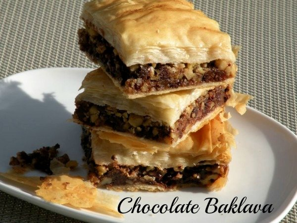 Post image for Bittersweet Chocolate Date Nut Baklava