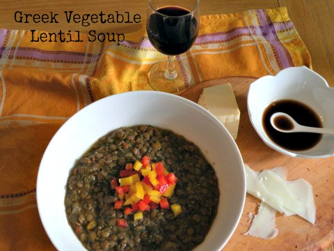 "Post image for Vegetable Lentil Soup with Balsamic Vinegar – "" Faki """