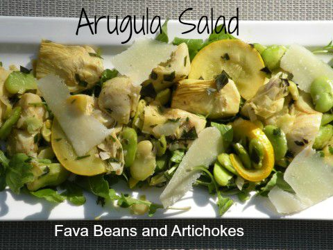 Post image for Arugula Salad with Fava Beans and Artichokes