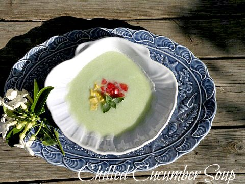 Post image for Chilled Cucumber Soup with Avocado, Tomato and Basil