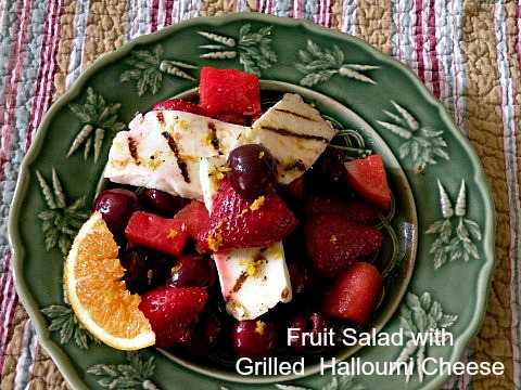 Post image for Grilled Halloumi Cheese with Stawberries