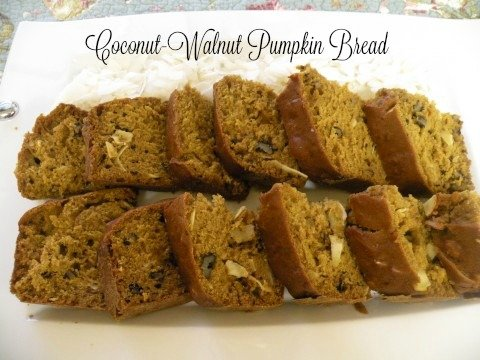 Post image for Coconut Walnut Pumpkin Bread