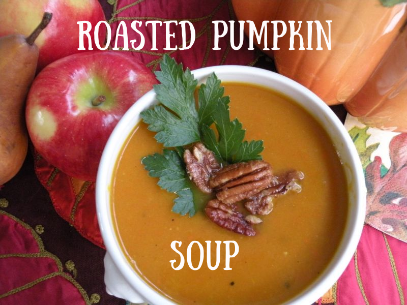 Post image for Roasted Pumpkin/Butternut Squash Soup