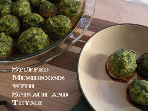 Post image for Stuffed Mushrooms with Spinach and Thyme