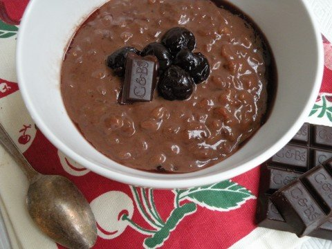 Chocolate Rice Pudding with Balsamic Cherry Topping - California Greek ...