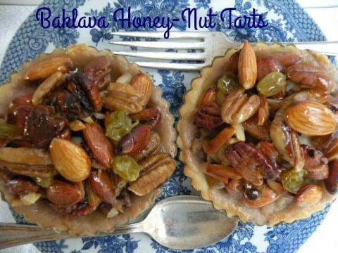Baklava Honey-Nut Tarts - California Greek Girl — California Greek ...