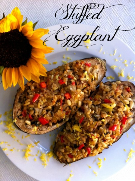"""Post image for Stuffed Eggplant with Three Grains """" Papoutsakia"""""""