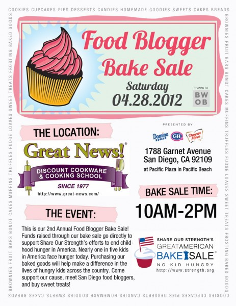Post image for Join us for the San Diego Food Blogger's Bake Sale