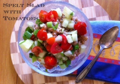 Post image for Spelt Salad with Tomatoes and Tahini Dressing