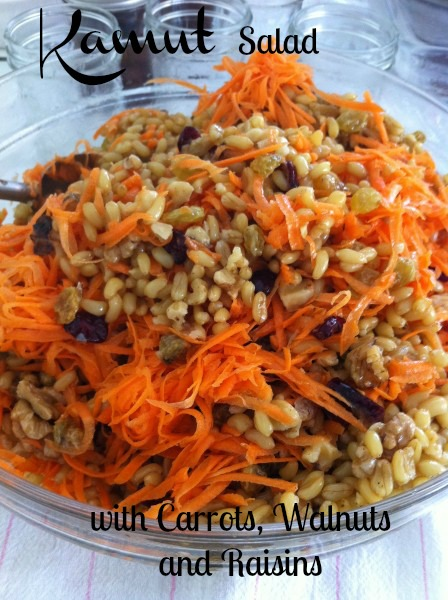 Post image for Kamut Salad with Carrots,Walnuts, and Raisins