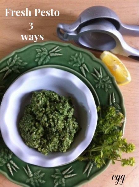 Post image for Fresh Pesto Three Ways