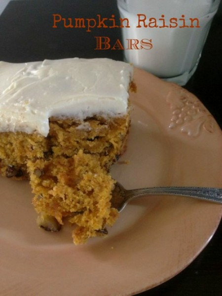 Post image for Pumpkin Raisin Bars