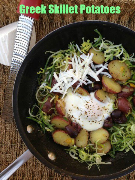 Post image for Greek Skillet Potatoes with Leeks, Eggs and Myzithra