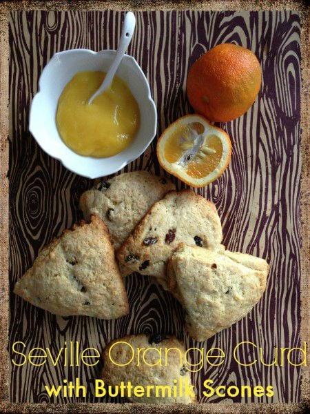 Post image for Seville Orange Curd with Buttermilk Raisin Scones
