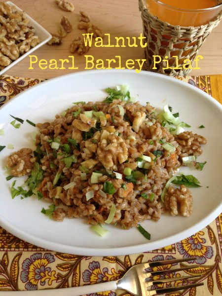 Post image for Walnut Pearl Barley Pilaf with Sweet Potatoes