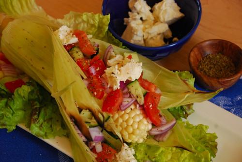 Post image for Fresh BBQ Corn with Feta Salad Bar
