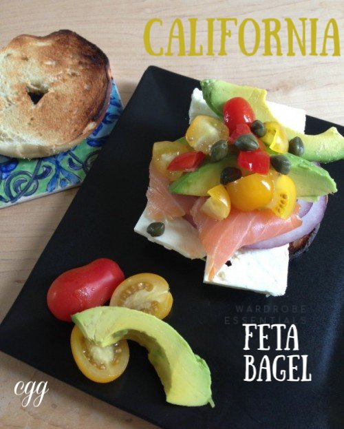 Post image for California Feta Bagel with Avocado