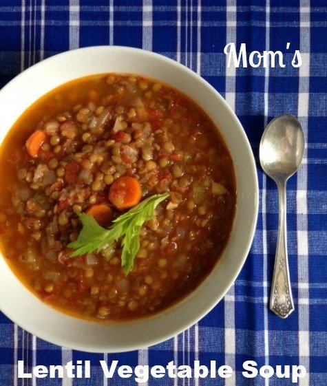 Post image for Mom's Lentil Vegetable Soup