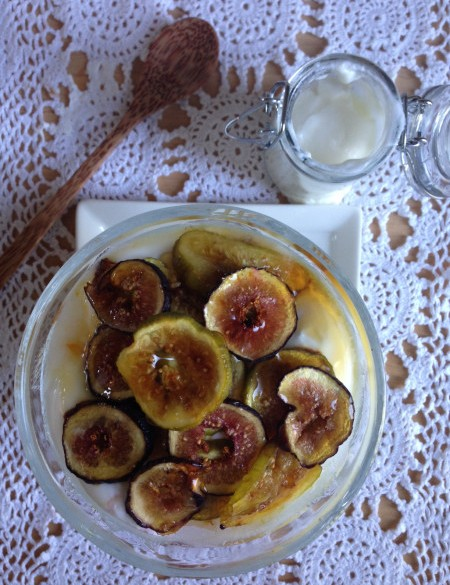 Post image for Homemade Greek Yogurt with Fig Chips