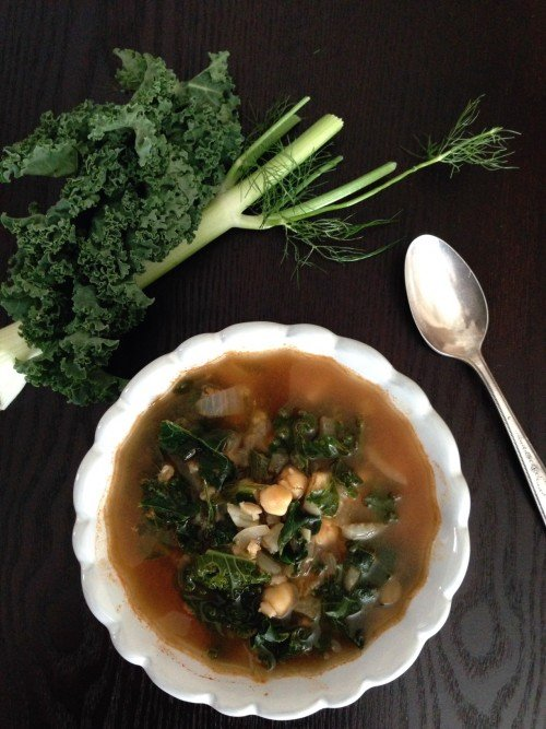 Post image for Chickpea Soup with Kale and Barley