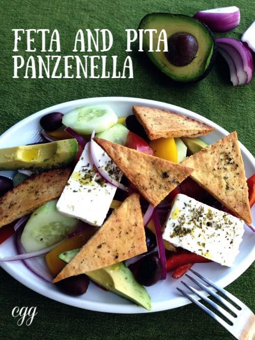 Post image for Feta with Pita Panzanella Salad