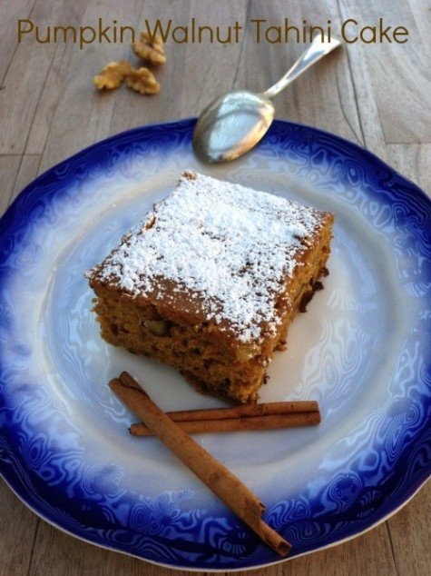 Post image for Pumpkin Walnut Tahini Cake