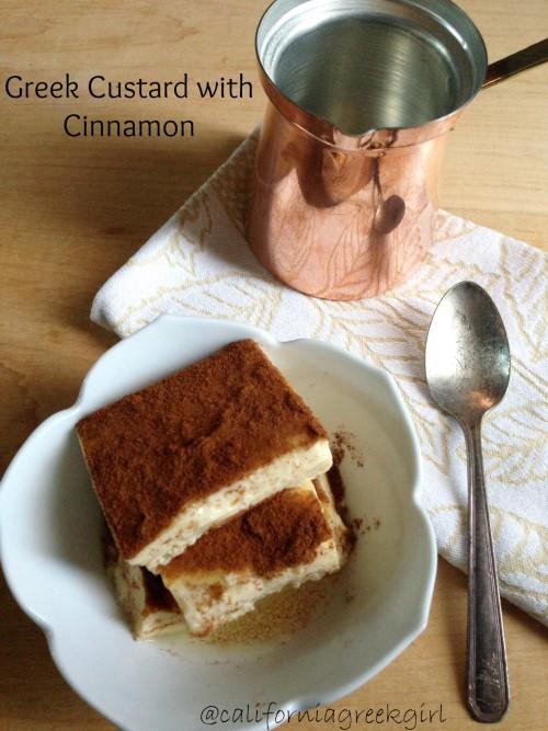 "Post image for Greek Custard with Cinnamon ""Krema"""