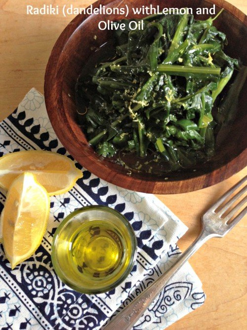 Post image for Dandelions with Lemon and Olive Oil