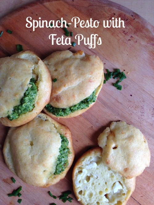 Post image for Spinach-Pesto with Feta Puffs