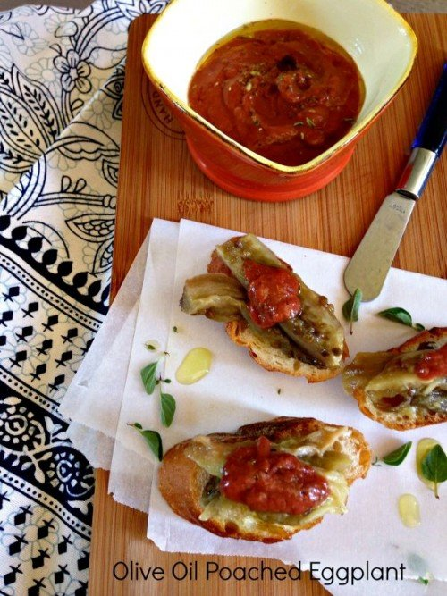 Post image for Olive Oil Poached Eggplant
