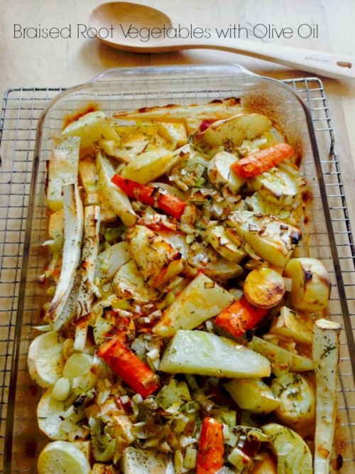 Post image for Braised Root Vegetables with Olive Oil
