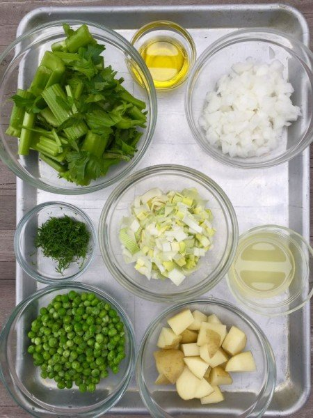 Celery and Peas