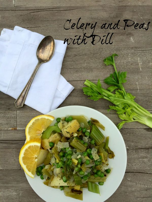 Post image for Celery and Peas Greek Style