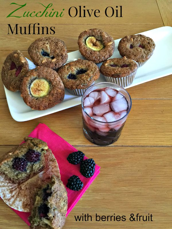 Post image for Zucchini Olive Oil Muffins with Berries