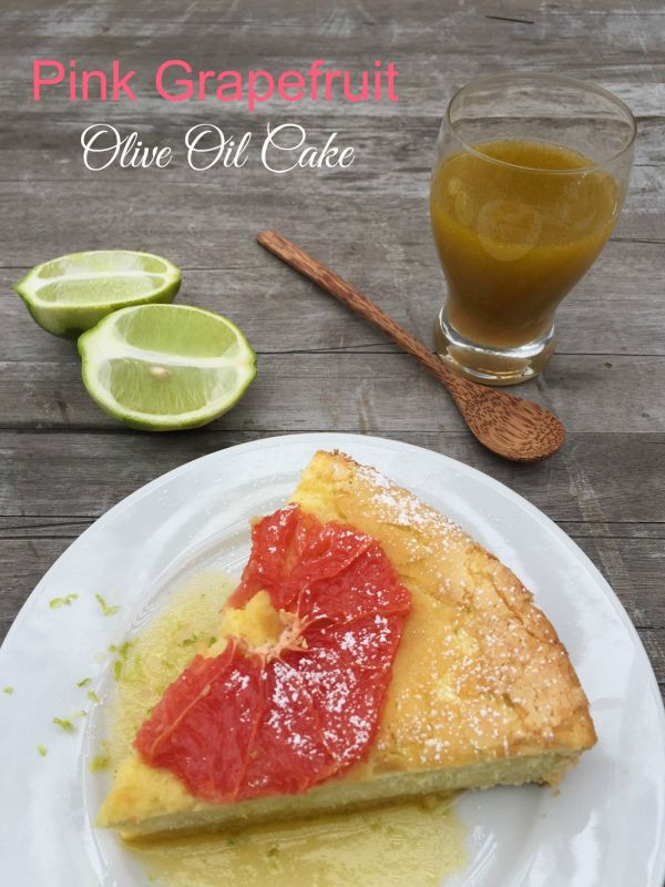 Post image for Pink Grapefruit Olive Oil Cake with Dressing