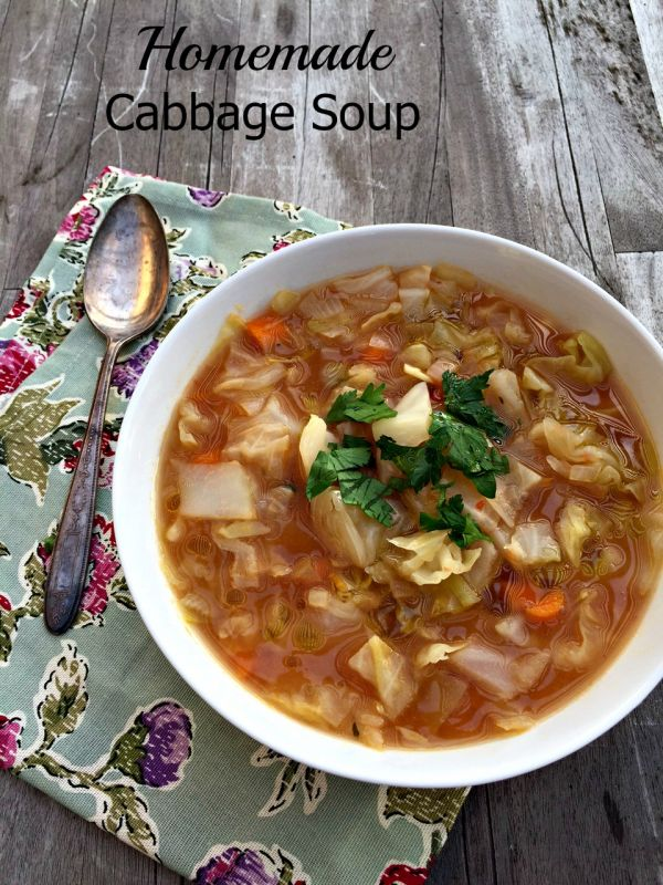 Post image for Cabbage Soup with Fresh Vegetable Stock