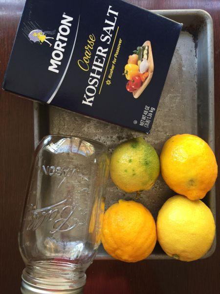 lemon preserving mise en place