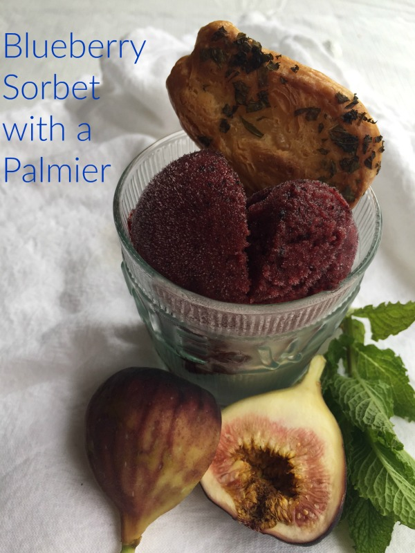 Post image for Blueberry Sorbet with Mint Palmier
