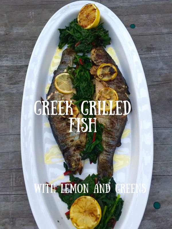 Post image for Greek Grilled Whole Fish with Greens and Lemons