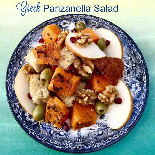 Greek Panzanella greek panzanella salad with butternut squash - california greek