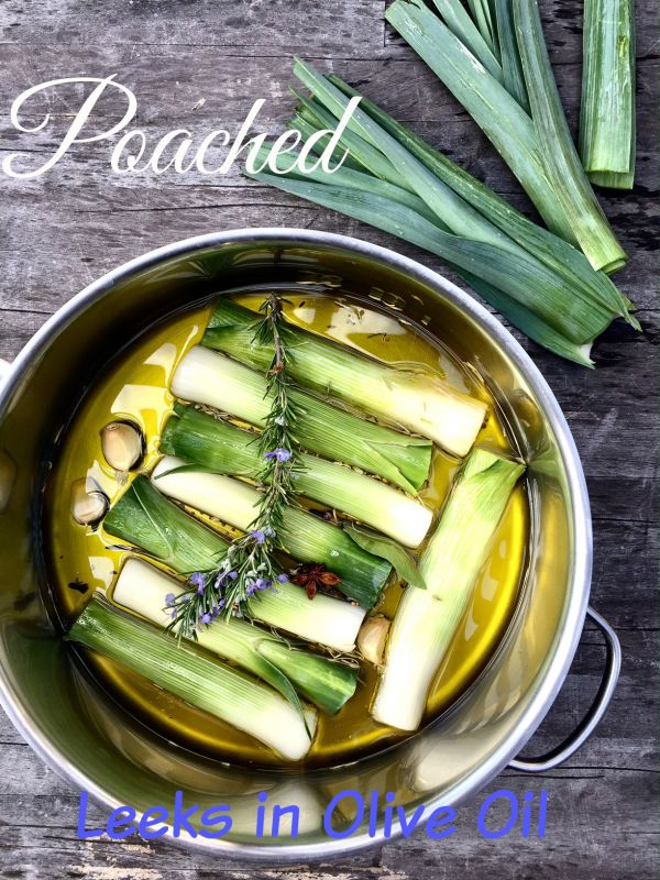 Post image for Poached Leeks in Extra Virgin Olive Oil