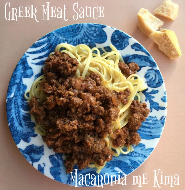 Post image for Kima Greek Meat Sauce with Pasta